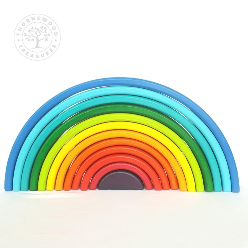Large Rainbow Stacker – Sunset Blues