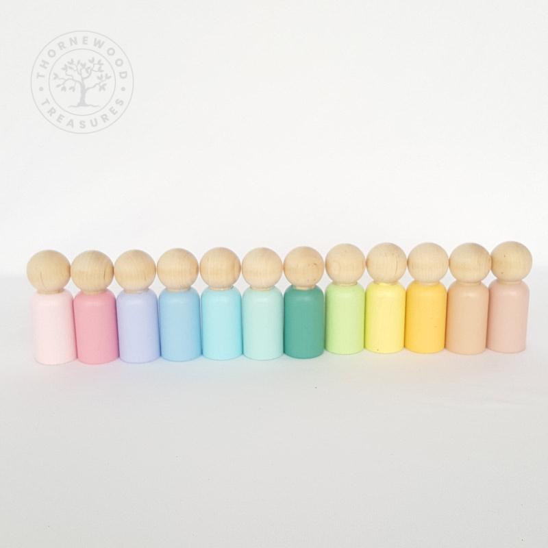 Rainbow Peg Dolls – Pastel