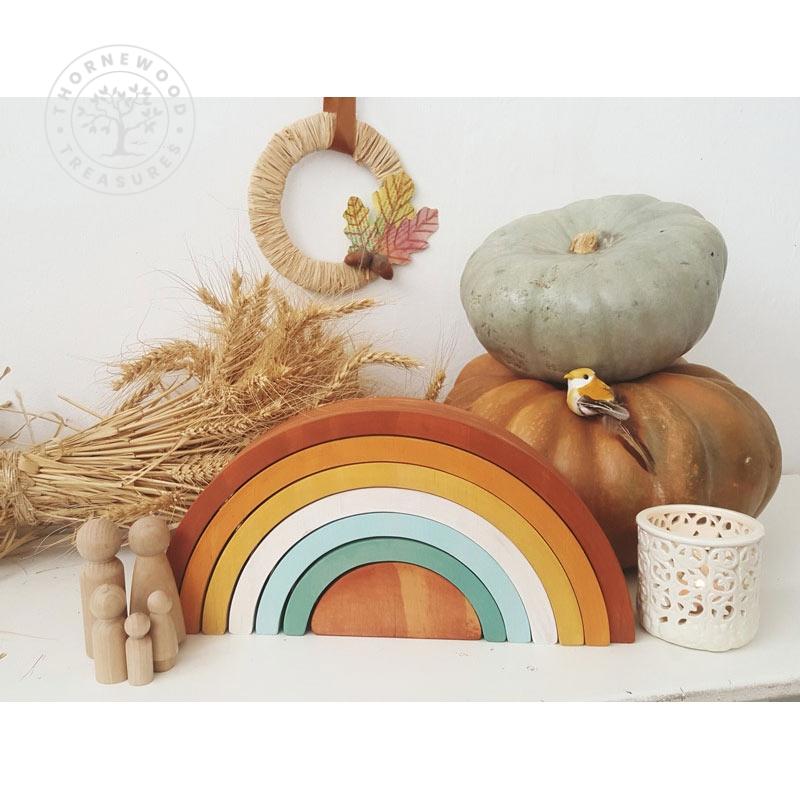 Small Rainbow Stacker – Autumn