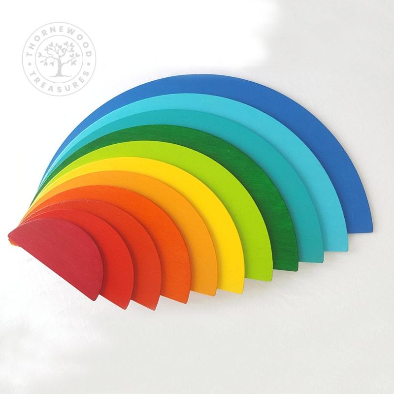 Rainbow Half Circles – Sunset Blues