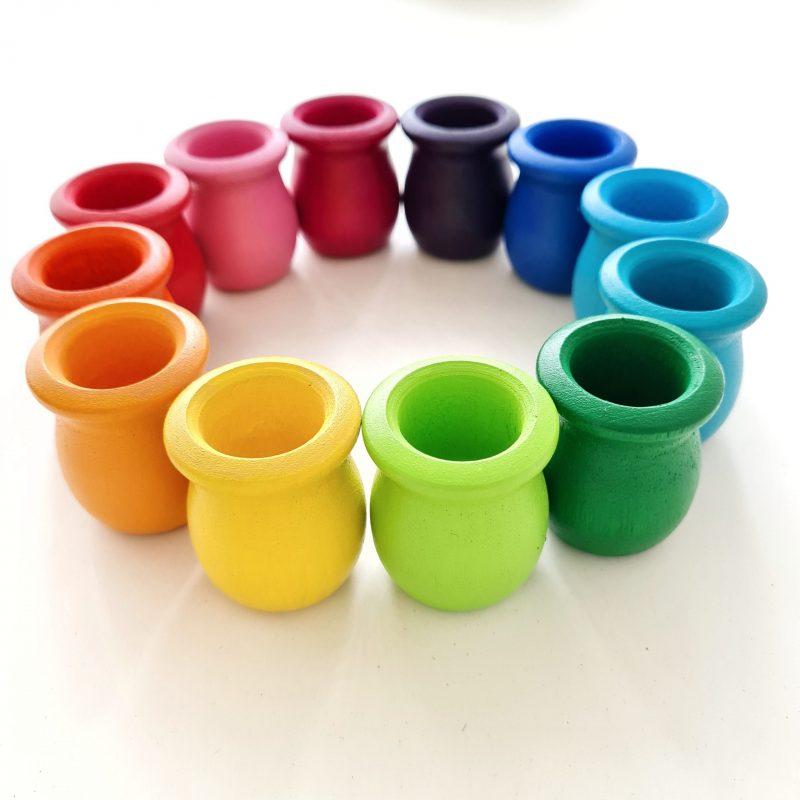 Peg Doll Cups – Bright